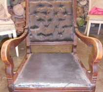 Turn of Century Rocker, before restoration.