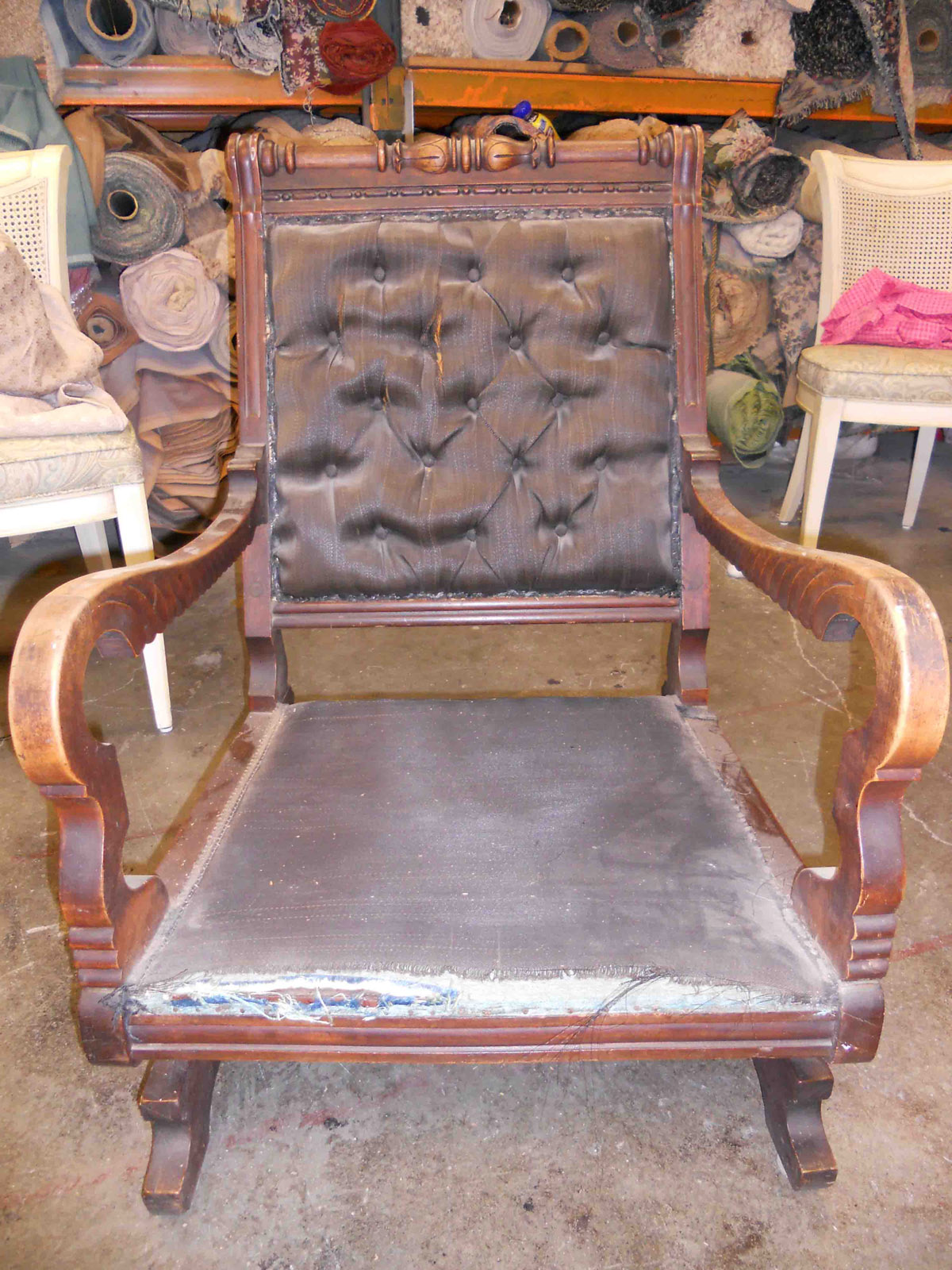 Turn of the century furniture - Turn Of Century Rocker Before Restoration